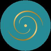 Médaillon logo bleu clair
