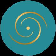 Médaillon logo bleu foncé