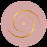 Logo médaillon rose